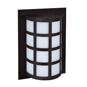Scala Black One-Light LED Outdoor Sconce With Satin White Glass