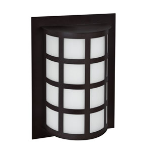 Scala Black One-Light LED Outdoor Sconce With White Acrylic Glass