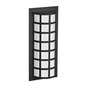 Scala Black Two-Light Outdoor Sconce With Satin White Glass