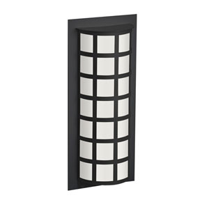 Scala Black Two-Light Outdoor Sconce With White Acrylic Glass