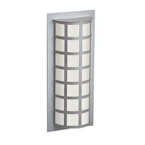 Scala Silver Two-Light Outdoor Sconce With White Acrylic Glass