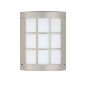 Moto Brushed Aluminum One-Light Incandescent Wall Sconce with White Acrylic Shade