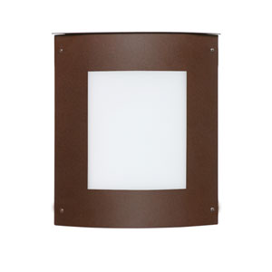 Moto Bronze One-Light Incandescent Square Outdoor Wall Sconce with White Acrylic Shade