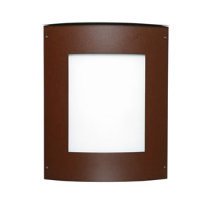 Moto Bronze Two-Light Incandescent Square Outdoor Wall Sconce with White Acrylic Shade