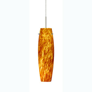 Tutu Amber Cloud Satin Nickel Mini Pendant
