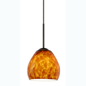 Bolla Amber Cloud Bronze Mini Pendant