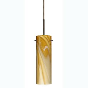Copa Bronze One-Light Mini Pendant with Honey Glass