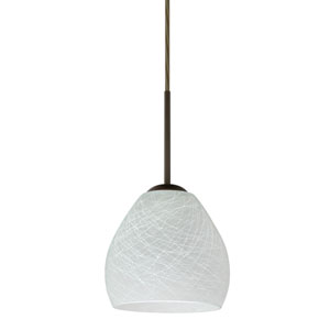 Bolla Bronze One-Light LED Mini Pendant with Cocoon Glass