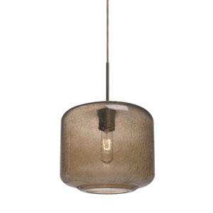 Niles Bronze One-Light Cord Mini Pendant with Smoke Bubble Shade