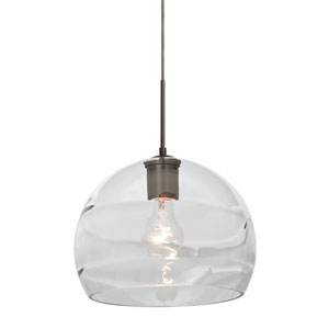 Spirit Bronze One-Light 10-Inch Cord Mini Pendant with Clear Shade