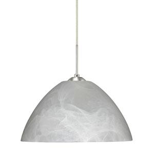 Tessa Marble Satin Nickel Mini Pendant