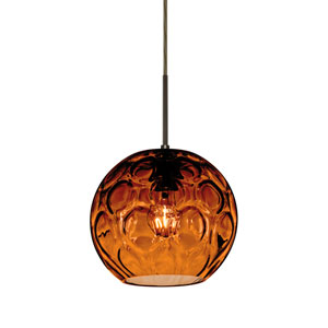 Bombay Bronze One-Light Pendant with Amber Glass