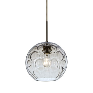 Bombay Bronze One-Light Pendant with Clear Glass