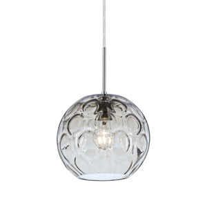 Bombay Satin Nickel One-Light Pendant with Clear Glass