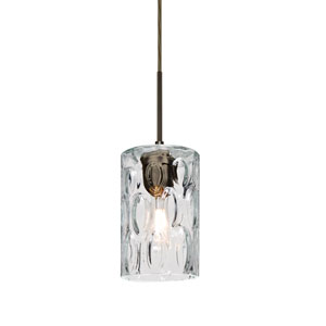 Cruise Bronze One-Light Mini Pendant with Clear Glass