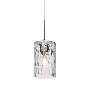 Cruise Satin Nickel One-Light Mini Pendant with Clear Glass
