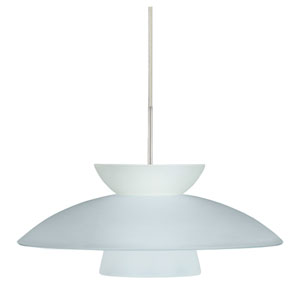 Trilo 15 Satin Nickel One-Light LED Pendant with Frost Glass