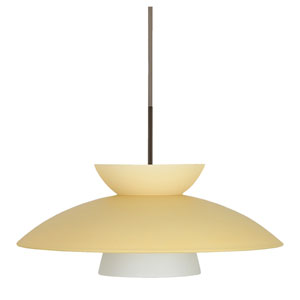 Trilo 15 Bronze One-Light LED Pendant with Champagne Glass
