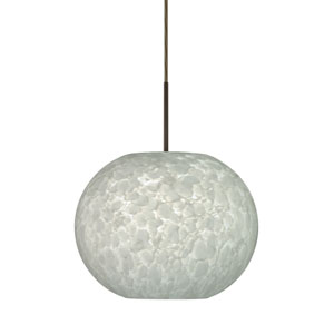 Luna Bronze 10.One-Light LED Pendant with Carrera Glass, Flat Canopy