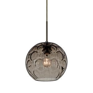 Bombay Bronze One-Light Pendant with Smoke Glass