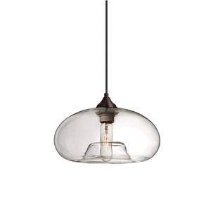 Bana Bronze One-Light Pendant with Clear Glass