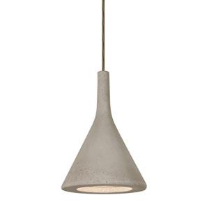 Gala Bronze One-Light LED Mini Pendant with Tan Shade