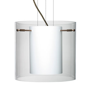 Pahu 12 Bronze One-Light Edison 120v Mini Pendant with Flat Canopy, Cable, and Clear Glass