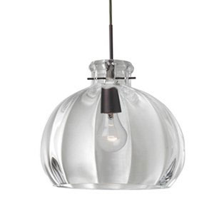 Pinta Bronze 14.25 Wide One-Light KX Incandescent 120v Mini Pendant with Dome Canopy, Cable, and Clear Glass