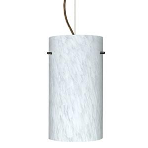 Tondo 12 Bronze One-Light LED Mini Pendant with Carrera Glass