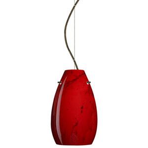 Pera 9 Bronze One-Light LED Mini Pendant with Magma Glass, Dome Canopy