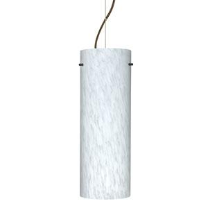 Tondo 18 Bronze One-Light LED Mini Pendant with Carrera Glass