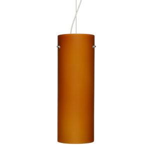 Tondo 18 Satin Nickel One-Light LED Mini Pendant with Amber Matte Glass