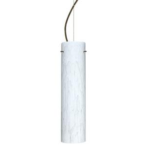 Stilo 16 Bronze One-Light LED Mini Pendant with Carrera Glass, Dome Canopy