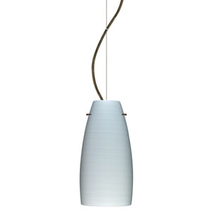 Tao 10 Bronze One-Light LED Mini Pendant with Chalk Glass, Dome Canopy