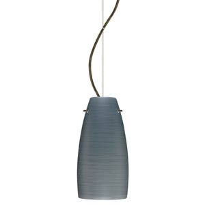 Tao 10 Bronze One-Light LED Mini Pendant with Titan Glass, Dome Canopy