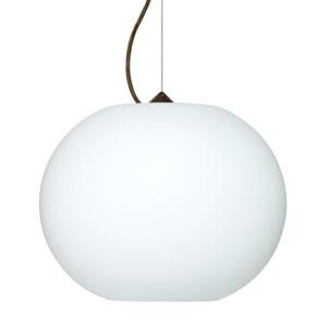 Jordo Bronze One-Light LED Pendant with Opal Matte Glass