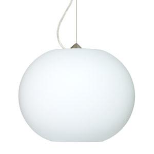 Jordo Satin Nickel One-Light LED Pendant with Opal Matte Glass