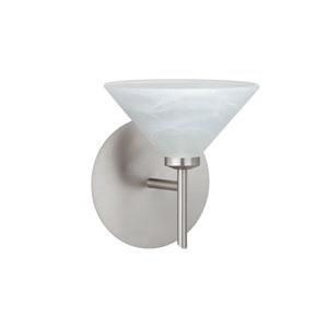 Kona Marble Satin Nickel Sconce