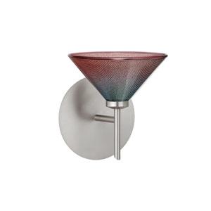 Kona Bi-Color Satin Nickel Sconce