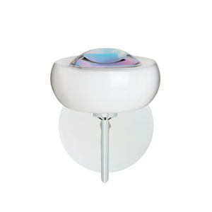 Focus Chrome One-Light LED Bath Sconce with Cool Dicro Glass
