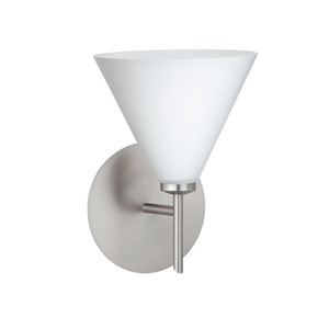 Kani Opal Matte Satin Nickel Sconce