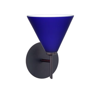 Kani Cobalt Blue Matte Bronze Sconce