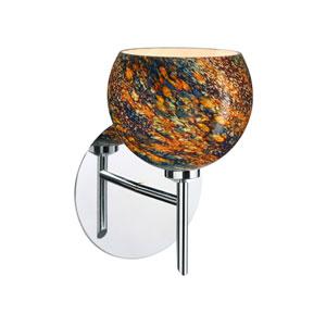 Palla Chrome One-Light Halogen Wall Sconce with Ceylon Glass