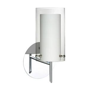 Pahu 4 Chrome One-Light LED Bath Sconce with Clear Glass