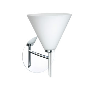 Kani Chrome One-Light LED Bath Sconce with Opal Matte Glass