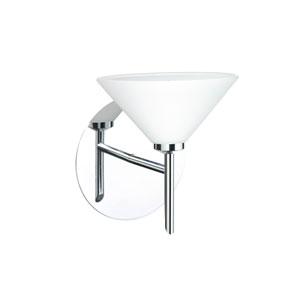 Kona Chrome 5.One-Light LED Bath Sconce with White Glass