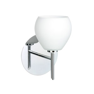 Tay Tay Chrome One-Light LED Bath Sconce with Opal Matte Glass