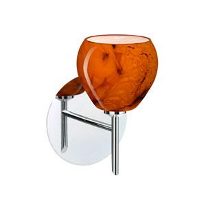Tay Tay Chrome One-Light LED Bath Sconce with Habanero Glass