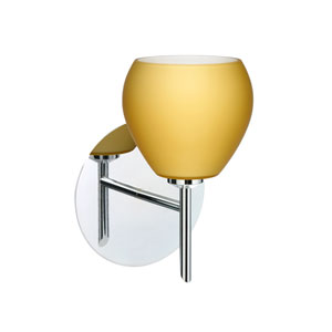 Tay Tay Chrome One-Light LED Bath Sconce with Vanilla Matte Glass