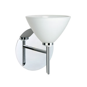 Kona Chrome One-Light LED Bath Sconce with White Glass